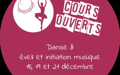 Cours ouverts danse & éveil et initiation musicale